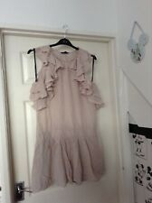Ladies warehouse nude silk dress size 12