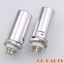 9Pin Vacuum tube Socket with 55mm Aluminum Shield FR 12AX7 12AU7 ECC83 ECC82 1PC