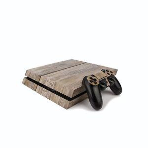 PS4 PlayStation 4 Wood Effect Vinyl Wrap: Rustic / PlayStation 4 PS4 Skin Sti...
