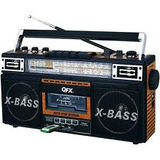 Portable Retro Boombox Radio Recorder Player Cassette MP3 Converter USB AUX SD