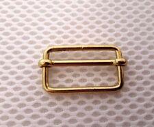 10 x32mm metal slide grip bar buckle gold finish,corset strap craft bag{