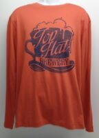 TOP HAT BREWERY Cremieux Size XL Coral Long Sleeve T-Shirt New Mens Shirt