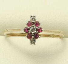 9carat 9k Gold Diamond & Ruby Ring Uk size K Us size 5 1/8