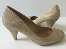*NEW* Dorothy Perkins Women's UK 5 / EU 38 Champagne Gold Cava Court Shoes