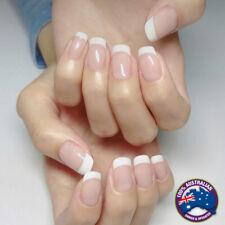 Polish 24PCS Fake Nails Stick French Nails With Glue Press on Full Cover False