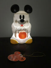 Disney Mickey Mouse Ghost Trick or Treat Glow Lantern Missing Handle *See Photos