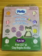 NEW Sculpey Pluffy Modeling Clay 9-Piece Pastel Variety Pack Set.