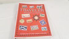Vintage Unused TRAVELER Stamp Album Postage Stamps of the World & US