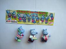 """'' Die Happy Hippo Company """" von 1994 - 3 Figuren + 1 BPZ"""
