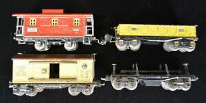Lionel Prewar Freight Car Set 807, 655, 2652, Unmarked Dump Car (3811?)
