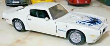ERTL American Muscle 1973 Pontiac Firebird Trans Am SD 455 White 1/18 Scale