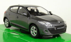 Nex Models 1/24-27 Scale - 2009 Renault Megane Metallic Grey Diecast model car