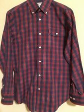GANT by Michael Bastian Men's Designer Button Down Shirt Blue/Red Plaid Size S