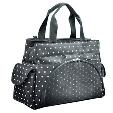 Allis Holiday Black Dot Baby Changing Bag Nappy Tote Insulated Diaper Bag 3PCS