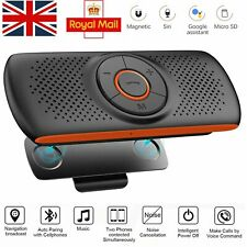 Wireless Bluetooth 4.2 Car Speaker Phone Handsfree MP3 Kit Sun Visor Clip Drive