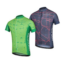 Uriah Men's Cycling Jersey Bike Riding Shirt Tops with Reflective Zip Pocket