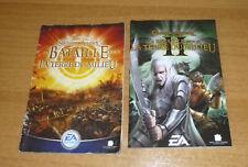 2 notices de jeu PC la bataille pour la terre du milieu 1 et 2 avec numero serie