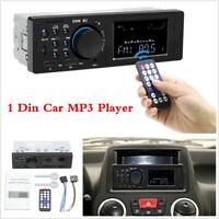 1 Din Car Radio Bluetooth Stereo MP3 Player FM/USB/AUX In-Dash Audio Head Unit