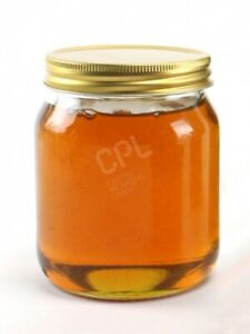 1lb Glass Honey Jar with Gold screw on Lid - FREE NEXT DAY DELIVERY