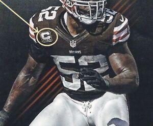D'Qwell Jackson Cleveland Browns 2012 Black Captains one-⭐-C Patch (2⭐available)