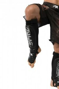 Fightnature Schienbein u. Spannschutz Leder. MMA, Freefight, Muay Thai,Kickboxen