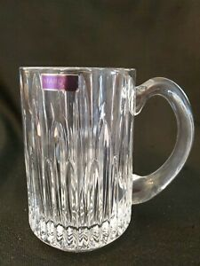 NIB Marquis by Waterford Barcelona Heavy Beer Stein Crystal Mug Germany