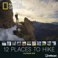 CALENDRIER 2018-NATIONAL GEGRAPHIC-12 PLACES TO HIKE - 30 x 30 cm