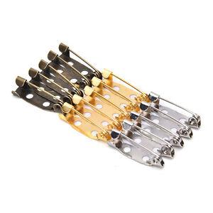 50X Safety Brooch Catch Bar Locking  Pins Back Base Findings DIY Craft 20m CR_cd