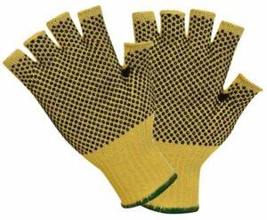 Polyco Touchstone Grip Fingerless Gloves Cut 3 Resistant Aramid PVC Dots Size 7