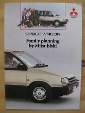 Mitsubishi Space Wagon UK Sales Brochure (1989)