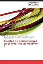 NEW Aportes de Epistemología en el Nivel Inicial. Volumen 1 (Spanish Edition)