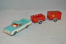 Dinky Toys 448 Chevrolet Pick-Up and Trailer Extremely Rare set all original