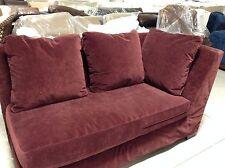 Pottery Barn PACIFIC Deep Sofa Chair SECTIONAL Left Arm Chaise Cordovan Velvet