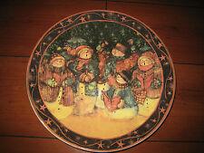 Weihnachtsteller Teller Plätzchenteller bunt antik Neu Weihnachten Gebäck 32 cm