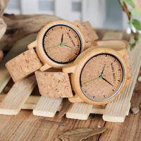 Bobo Bird montres bois en Bambou écologique bracelet en liège Mouvement Quartz