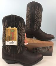 Laredo Western Boots 9.5 Wide Cowboy Copper Kettle Brown Leather