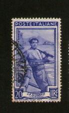 FRANCOBOLLO: ITALIA: Poste Italiane: la sciabica (Campania) - BLU 20 LIRE