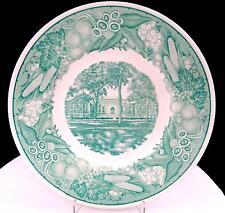 "Wedgwood Etruria England Green And White Ohio University 10 3/4"" Library Plate"
