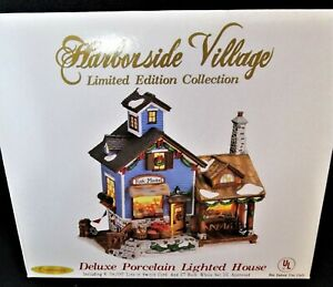 Harborside Village Limited Edition Collection Lighted House - FISH MARKET