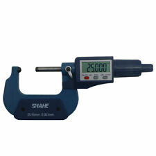 Shahe 25 50mm 0001mm Digital Tube Micrometer With Double Round Head Tube Gauge
