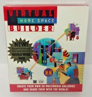 Virtual Home Space Builder Create 3D CDROM Game Windows PC Big Box New Sealed
