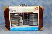 Creatology 141 Pc Art Set In Wooden Case Water color Colored Pencils Markers