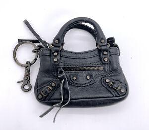Balenciaga Authentic Limited Ed 10th Anniv '10 Mini First Bag Key Chain Bag Tare