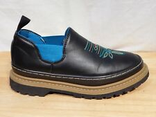 Loafers 8.5M Black Slip On Elastic Sides Detailed Front Shoes Western Chief