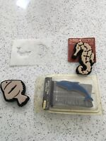 Seahorse & Fish Rubber Stamps Plus Dolphin Wall Stamp & Fish Stencil.
