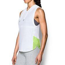 9f1cbe77f2e7a Under Armour Womens Favorite Mesh Sleeveless Hoodie White   Volt 1308214 100