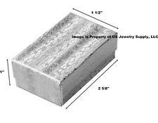 Wholesale Lot 1000 Silver Cotton Fill Jewelry Display Packaging Gift Boxes 2 5/8