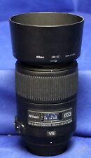 Nikon DX AF-S Micro Nikkor 85mm 1:3.5 G ED W/ HB-37 Hood