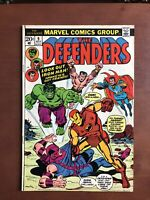 The Defenders #9 (1973) 8.0 VF Marvel Bronze Age Comic Book Avengers Fight
