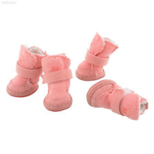 Lovely Adjustable Pink Pet Dog Winter Anti-slip Snow Cozy shoes Boots Size M